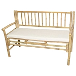 Bamboo Bench with Cushion