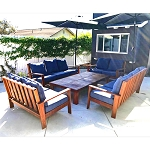 Brazilian Walnut Patio Seating Set (5pc)