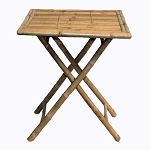 Square Folding Bamboo Table 30x30x27