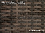 Virosurface Basketweave, V2O Dark Mahogany Synthetic Matting 4 feet x 25 feet
