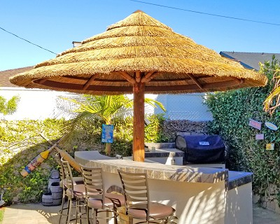 10.5' African Reed Palapa Pictured