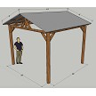 12x12 Corrugated Gable Roof Hut