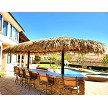 12x24 Mexican Palm Palapa - 2 Posts