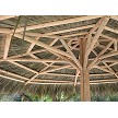 13 Foot Tahitian Palm Palapa - Underside View