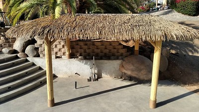 12x24 Oval Palmex Synthetic Palm Tiki Hut
