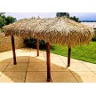 "9x18 Hut w/ 1/2"" manila rope option, Canyon Brown Stain Sealer"