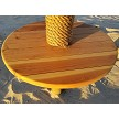 Example: 3 foot Round Redwood Table on palapa