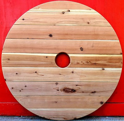 4 Foot Redwood Round Table