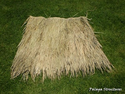 Mexican Palm Thatch Top Side View