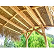 6x8 Gable Roof Mexican Palm Hut - Underside View