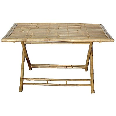 Large Bamboo Folding Table 53x35x30