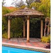 15 Foot Tahitian Palm Tiki Hut - Custom Options Shown