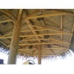 Example: Lauhala Natural Matting installed under palapa plywood