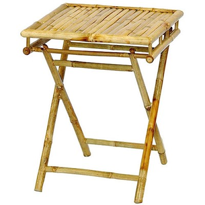 Small Bamboo Folding Table 20x19x28