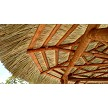 Tahitian Palm Tiki Hut, Canyon Brown Stained