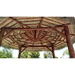 15 Foot Tahitian Palm Tiki Hut, Canyon Brown Stained